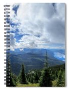 Lake Mcdonald From Mt Brown Trail - Glacier National Park Spiral Notebook