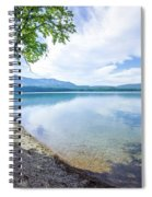 Lake Mcdonald In Glacier National Park Montanaa Spiral Notebook