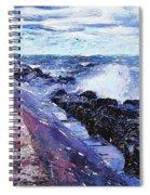 Lake Michigan Waves Spiral Notebook