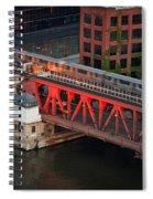 Lake Street Crossing Chicago River Spiral Notebook