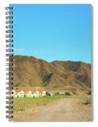 Landscape Desert In Almeria, Andalusia, Spain Spiral Notebook