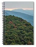 Landscape View At Cedar Mountain Overlook Spiral Notebook