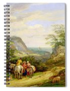 Landscape With Figures And Cattle Spiral Notebook