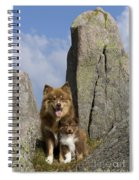 Lapinko�ra Dog And His Pup Spiral Notebook