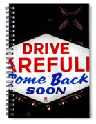 Las Vegas Sign At Night Spiral Notebook