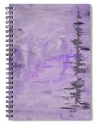 Lavender Gray Abstract Spiral Notebook