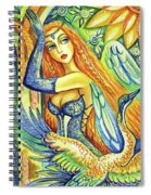 Fairy Leda And The Swan Spiral Notebook