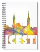 Leicester England Skyline Spiral Notebook