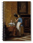 Leisure Time In An Elegant Setting Spiral Notebook