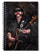 Lemmy Kilmister With Guitar Spiral Notebook