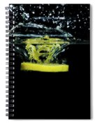 Lemon Dropped Into Water  Spiral Notebook