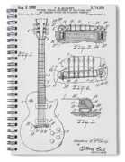 Les Paul  Guitar Patent From 1955 Spiral Notebook