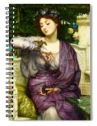 Lesbia And Her Sparrow Spiral Notebook