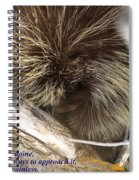 Life Is Like A Porcupine... Spiral Notebook
