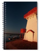 Lighthouse And Marina At Hecla In Manitoba Spiral Notebook