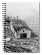 Lighthouse On The Point Spiral Notebook
