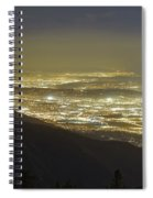Lights Of Los Angeles, California Spiral Notebook