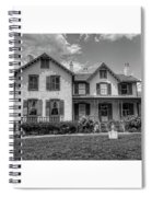 Lincoln Cottage In Black And White Spiral Notebook