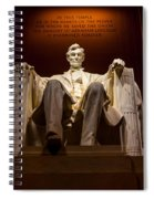 Lincoln Memorial At Night - Washington D.c. Spiral Notebook