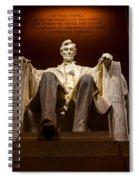 Lincoln Memorial At Night - Washington D.c. Spiral Notebook
