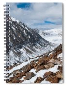 Lincoln Peak Winter Landscape Spiral Notebook