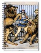 Lion Tamer, 1873 Spiral Notebook