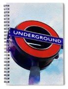 London Underground Spiral Notebook