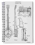 Long Neck Banjo Patent From 1964 Spiral Notebook