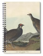 Long-tailed Or Dusky Grous Spiral Notebook