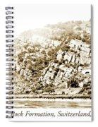 Lorelei Rock Formation, Switzerland, 1903 Spiral Notebook