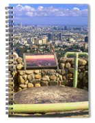 Los Angeles Skyline From Mulholland Spiral Notebook
