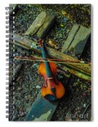 Lost Violin Spiral Notebook