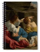 Lot And His Daughters Spiral Notebook