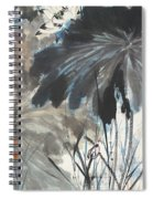 Lotus In The Pond Spiral Notebook