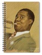 Louis Armstrong, Music Legend Spiral Notebook