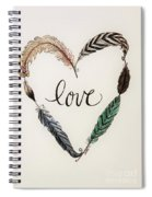 Feathers Of Love Spiral Notebook