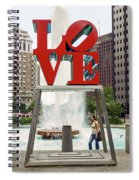 Love Sculpture Spiral Notebook