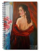 Lovely In Red Jenny Lee Discount Spiral Notebook