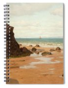 Low Tide At The Ris Beach Spiral Notebook