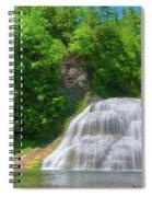 Lower Falls 0485 Spiral Notebook