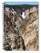 Lower Falls From Artist Point In Yellowstone National Park Spiral Notebook