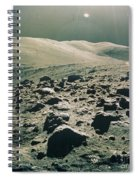 Lunar Rover At Rim Of Camelot Crater Spiral Notebook