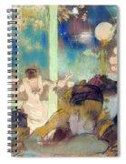 Mademoiselle Becat At The Cafe Des Ambassadeurs  Spiral Notebook