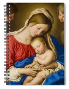 Madonna And Child Spiral Notebook