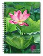 Magenta Lotus Blossom Spiral Notebook