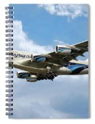 Malaysia Airlines Airbus A380 Spiral Notebook