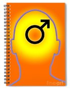 Male Symbol Spiral Notebook