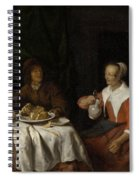 Man And Woman At A Meal Spiral Notebook