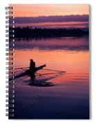 Man Rowing On Montlake Cut Spiral Notebook
