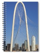 Margaret Hunt Hill Bridge In Dallas - Texas Spiral Notebook